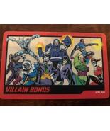 VILLAIN BONUS DC COMICS ARCADE GAME / COIN PUSHER CARD VILLAIN #016 - $11.87