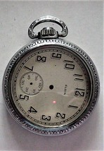 Large Pocket Watch Case with Elgin Face Plate Parts or repair - $29.00