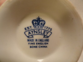Aynsley Tea Cup English Bone China White Floral Pattern image 2