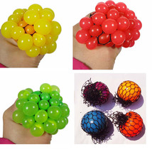 New Anti Stress Ball Novelty Fun Splat Grape Venting Balls Squeeze Stresses - $6.79