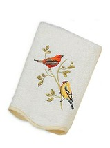 Avanti Premier Songbirds Hand Towel in Embroidered In Ivory Guest Bathroom - $33.64