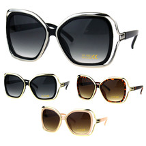 Womens Double Rim Frame Butterfly Diva Designer Fashion Sunglasses - $12.95