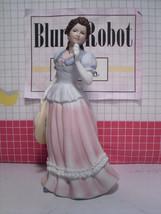 "Vintage HOMCO Lady Camille #1452 Porcelain 8"" Figurine Victorian Woman Hat - $17.10"