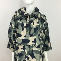Womens Camo Jacket Small Pixie Diamond Anorak Short Sleeve Forever 21 - $19.99