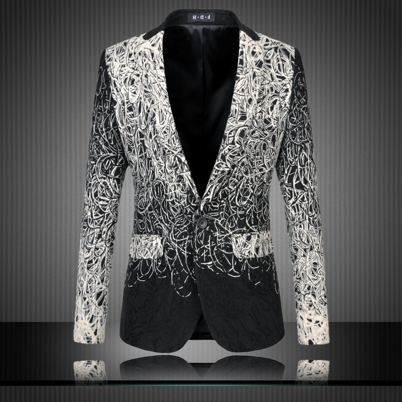 (XS-XXXXL) a large code men's fashion casual suit jacket