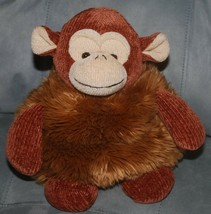"Rich Stuffed Animal Brown Monkey Chenille Furry Fat Beanie Plush 12"" Toy... - $14.80"