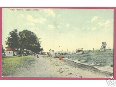 TOLEDO OHIO Beach Boats Diving Raft 1912 Vintage
