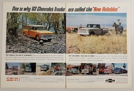 1963 Print Ad Chevrolet Trucks Pickup, Dump, Delivery, Semi Chevy Quality - $13.35