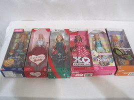 New Unopened Set Of 6 Holiday Barbie (HKW16-402) - $99.00