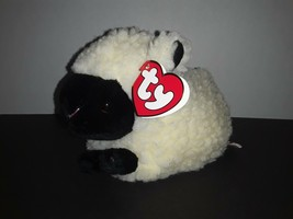 """HTF Ty Classic Beanie WOOLY the SHEEP 7.5"""" Animal Easter Plush Retired 1995 - $19.99"""