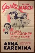 ANNA KARENINA (1935) Greta Garbo, Fredric March, Freddie Bartholomew MGM... - $150.00