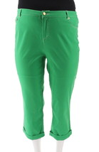 Liz Claiborne NY Jackie Cuffed Pants Spring Green 20P NEW A252121 - $24.73
