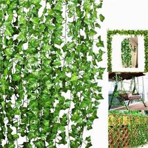 10Pcs Artificial Trailing Ivy Vine Leaf Ferns Greenery Garland Plants Fo... - $12.47