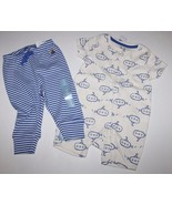 baby Gap NWT Boy Outfit Set Submarine Zip Shorts Romper + Striped Pants - $30.77