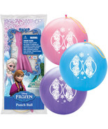 Purple Disney Frozen Printed Punch Balloon Ball Toy Party Favor - $6.64