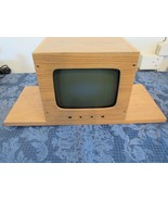 "Sylvania Cathode Ray Tube Television Kit Home Built Parts Wood Case 9"" - $147.58"