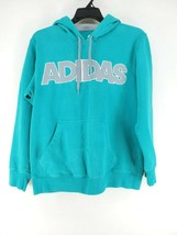 Adidas Hoodie Mens Sz Large Turquoise Embroidered (aa3)  - $21.99