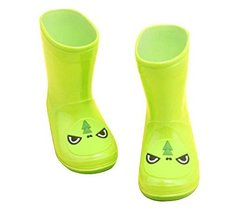 Cute Starry Kids' Rain Boots Green Dinosaur Children Rainy Days Shoes 15.67CM
