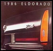 1986 Cadillac Eldorado, Biarritz Prestige Brochure - $11.96