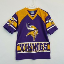 Vtg VIKINGS NFL Football TEAM GLASGOW Jersey Youth Size XL 16/18 Adult S... - $22.26