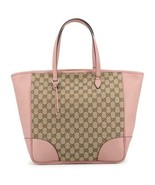 NEW Gucci Pink Brown Large Bree GG Guccissima Tote Bag 449242 - $787.75