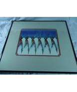 Siete De Taos Amado M. Pena Native American Chicano/ Yaqui Framed Matted... - $71.50