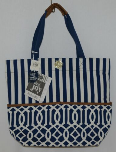 Mudpie Bundle Of Joy Product Number 8613072NL Large Diaper Bag Blue White Stripe