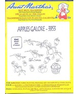 Aunt Martha's Hot Iron Transfers - Apples Galore - 3953 - Colonial Patte... - $1.03