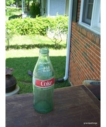 VINTAGE 1 LITER SIZE GLASS COKE COCA COLA BOTTL... - $40.00