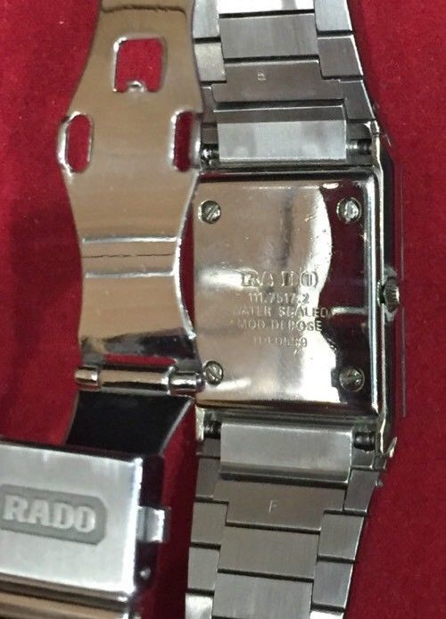 Rado Gold Dial And Stainless Steel Quartz Dressing Watch Stunning Gift/Present image 4