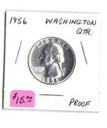 1956 Washington Silver Quarter PROOF Lot #13 - ₹779.18 INR