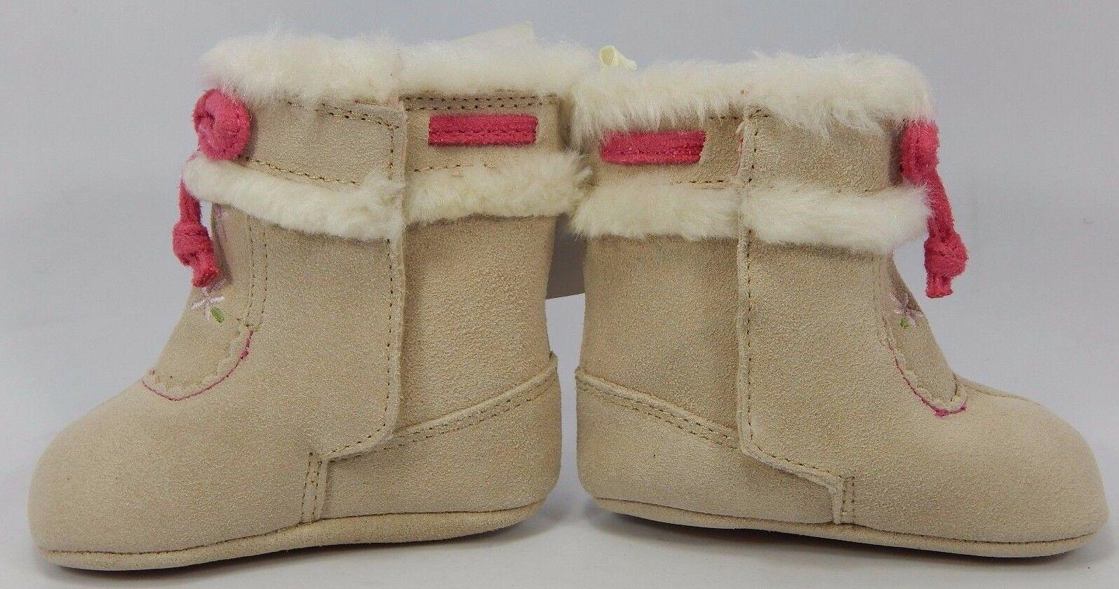 Baby Deer Cuir Suédé Fourrue pour Filles Enfant Bébé Chaussures Marche Pointure