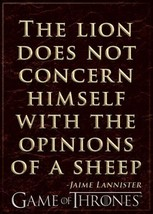 Game of Thrones The Lion Does Not Concern Himself Quote Refrigerator Mag... - $3.99