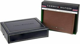 Tommy Hilfiger Men's Leather Bifold RFID Blocking Wallet With Zipper Coin Pocket image 7