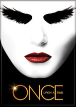 Once Upon A Time TV Series Black Swan Face Above Logo Refrigerator Magne... - $3.99