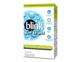 NIB BLINK LID WIPES Cleans Moisturizes Soothes 30 Individually Wrapped - $12.86