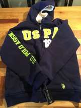 Boys U.S Polo Assn. Zip-Up Navy Hoodie Lined W/Sherpa Size 18 New With Tags - $14.50