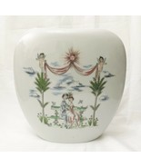 Rosenthal Porcelain Vase Vintage Raymond Peynet The Lovers Hand Painted MCM - $356.37