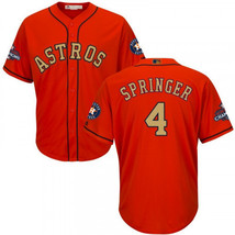 Men's Houston Astros #4 George Springer Jersey Champion Gold Edition - $59.00