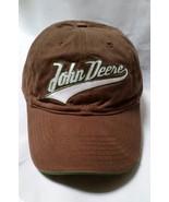 John Deere Cap Baseball Hat Brown Brand Mens Trademark Adjustable Summer... - $12.97