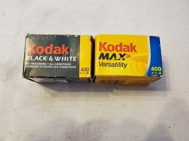 Lot of 2 Kodak 35mm 400 Film With Box Damage Black & White & Color Best By 07/04 - $19.97