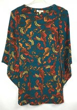 Aryeh Womens Tunic Dress Size S Angel Wing Long Sleeve Fall Autumn Leave... - €33,74 EUR