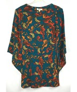 Aryeh Womens Tunic Dress Size S Angel Wing Long Sleeve Fall Autumn Leave... - $37.87