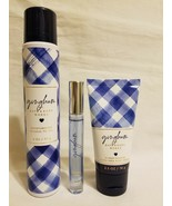 Bath And Body Works Gingham Bundle Perfume Body Cream & Oil Mousse - $24.74