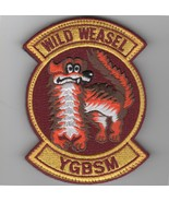 """5"""" WILD WEASEL YGBSM RED USAF AIR FORCE MILITARY EMBROIDERED JACKET PATCH - $18.99"""
