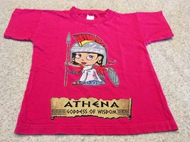 Girl's Hot Pink Graphic Short Sleeve T-Shirt ( 4 )  - $6.35