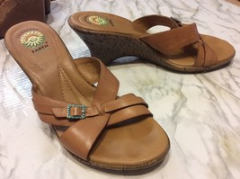 Earth Spirit Sandals Mule Size 10 Leather Newton Beige With Decorative B... - €12,15 EUR