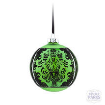 Disney Parks Store - The Haunted Mansion Glass Ball Christmas Ornament - Green - $39.59