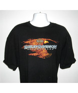 Mens Harley Davidson OKOBOJI Iowa T Shirt 3XL Flaming Eagle Amusement Park - $32.62