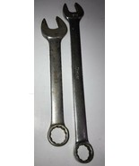 """SNAP-ON Lot of two COMBO WRENCH OEX18B 9/16"""" and OEX-200 USA - $37.39"""